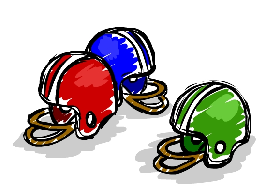 FootballHelmetsSketch