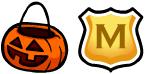 Calabaza y escudo