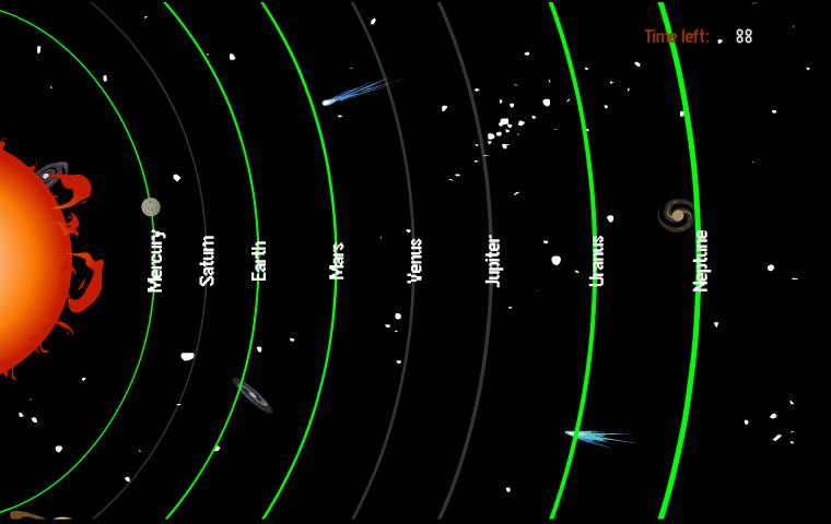 el orden de los planetas: